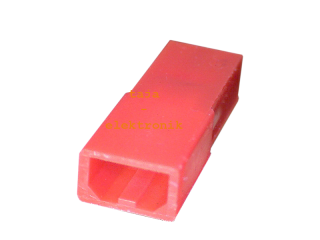 JST RCY Leergehäuse Stecker 2 polig, rot