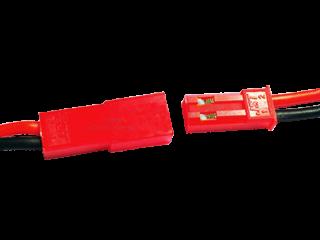 BEC Buchse/Stecker 2 polig mit je 10 cm Kabel SR - RM 2,50 mm