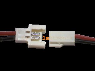 Molex Buchse/Stecker 2 polig mit je 10 cm Silikon Kabel RS - RM 2,00 mm