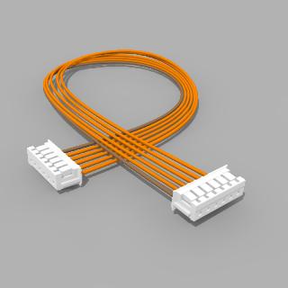 Kabel mit 2 JST Buchsen ZH 6 polig mit 20 cm Litze - RM 1,50 mm