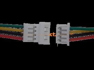 Micro JST Buchse/Stecker 4 polig mit je 10 cm Kabel - RM 1,25 mm