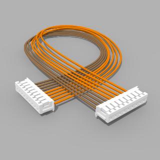 Kabel mit 2 JST Buchsen ZH 9 polig mit 20 cm Litze - RM 1,50 mm