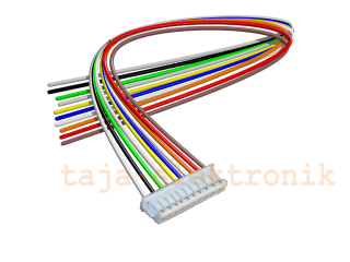 JST Buchse ZH 10 polig mit 20 cm Kabel 30 AWG - RM 1,50 mm