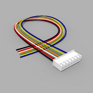 JST Buchse XH 7 polig mit 30 cm Kabel 28 AWG - RM 2,50 mm