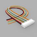 JST Buchse XH 9 polig mit 30 cm Kabel 28 AWG - RM 2,50 mm