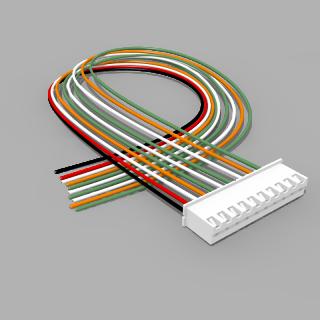 JST Buchse XH 10 polig mit 30 cm Kabel 28 AWG - RM 2,50 mm