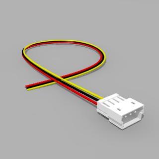 JST Stecker ZM 3 polig mit 20 cm Kabel RSG - RM 1,50 mm