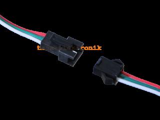 JST SM Buchse/Stecker 3 polig mit je 15 cm Kabel - RM 2,50 mm