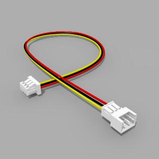Micro JST Verlängerung Buchse/Stecker 3 polig 10 cm - RM 1,25 mm