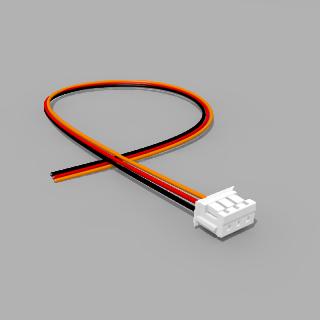 JST Buchse ZH 3 polig mit 20 cm Kabel 30 AWG SRO - RM 1,50 mm