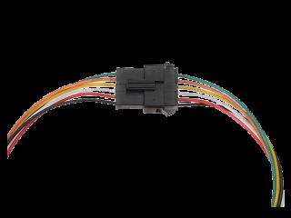 JST SM Buchse/Stecker 6 polig mit je 20 cm Kabel - RM 2,50 mm