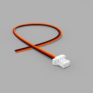 JST Buchse SH 3 polig mit 20 cm Kabel 30 AWG SRO - RM 1,00 mm