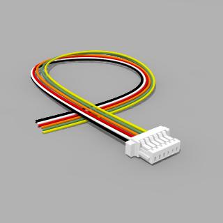 JST Buchse SH 6 polig mit 20 cm Kabel 30 AWG - RM 1,00 mm