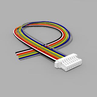 JST Buchse SH 8 polig mit 20 cm Kabel 30 AWG - RM 1,00 mm