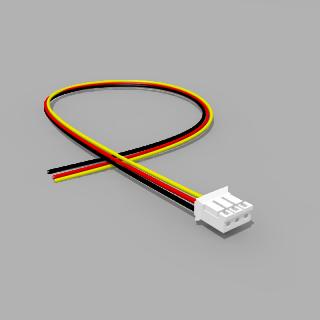 JST Buchse PH 3 polig mit 30 cm Kabel 28 AWG SRY - RM 2,00 mm