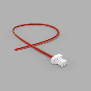JST Buchse SH 2 polig mit 20 cm Kabel 30 AWG RB - RM 1,00 mm