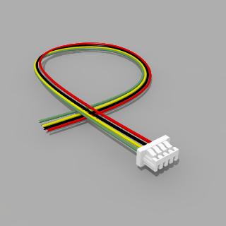 Micro JST Buchse 4 polig mit 20 cm Kabel - RM 1,25 mm