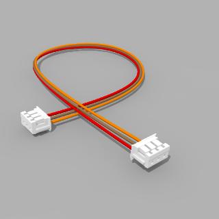 Kabel mit 2 JST Buchsen ZH 3 polig mit 20 cm Litze - RM 1,50 mm