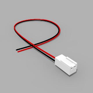 Molex Buchse 2 polig mit 30 cm Kabel - RM 2,50 mm