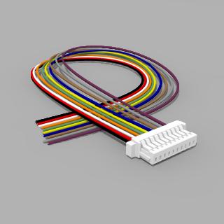 JST Buchse SH 10 polig mit 20 cm Kabel 30 AWG - RM 1,00 mm