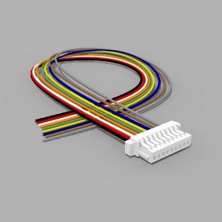 JST Buchse SH 9 polig mit 20 cm Kabel 30 AWG - RM 1,00 mm