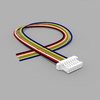 JST Buchse SH 7 polig mit 20 cm Kabel 30 AWG - RM 1,00 mm