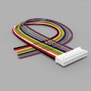 JST Buchse PH 10 polig mit 30 cm Kabel 28 AWG - RM 2,00 mm