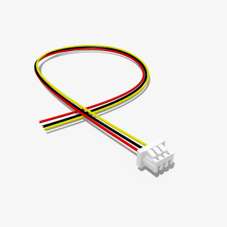 Micro JST Buchse 3 polig mit 20 cm Kabel - RM 1,25 mm