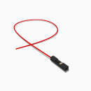 Harwin Buchse 1 polig mit 30 cm Kabel 28 AWG rot - RM 2,54 mm