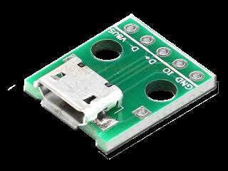 Micro USB Adapterplatine