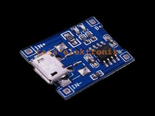 LIPO Ladeplatine 1 Zelle, USB 5 V, 1000 mA Ladestrom, Micro-USB Anschluß
