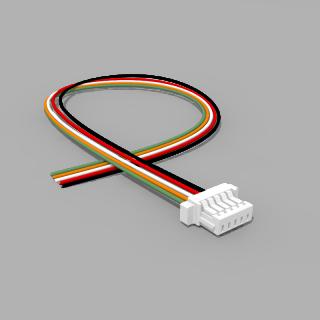 JST Buchse SH 5 polig mit 20 cm Kabel 30 AWG - RM 1,00 mm