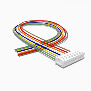 JST Buchse ZH 8 polig mit 20 cm Kabel 30 AWG - RM 1,50 mm