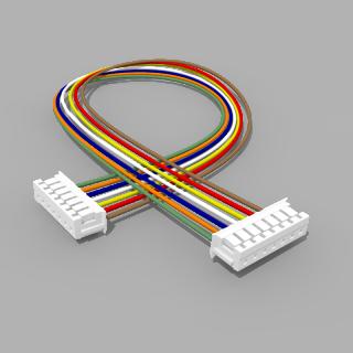 Kabel mit 2 JST Buchsen ZH 7 polig mit 20 cm Litze - RM 1,50 mm
