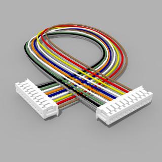 Kabel mit 2 JST Buchsen ZH 10 polig mit 20 cm Litze - RM 1,50 mm