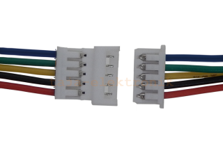 Micro JST Buchse/Stecker 5 polig mit je 15 cm Kabel - RM 1,25 mm