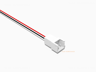 JST XH komp. Stecker 2 polig mit je 20 cm Kabel - RM 2,5 mm