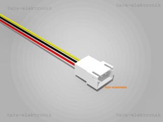 JST XH komp. Stecker 3 polig mit 20 cm Kabel 26 AWG - RM 2,5 mm