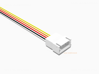 JST XH komp. Stecker 4 polig mit 20 cm Kabel 26 AWG - RM 2,5 mm