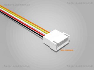 JST XH komp. Stecker 5 polig mit je 20 cm Kabel - RM 2,5 mm