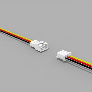 JST PH komp. Buchse/Stecker 3 polig mit je 10 cm Kabel 26 AWG - RM 2,0 mm