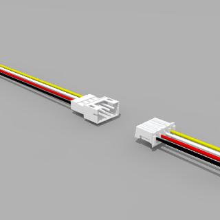 JST PH komp. Buchse/Stecker 4 polig mit je 10 cm Kabel 26 AWG - RM 2,0 mm