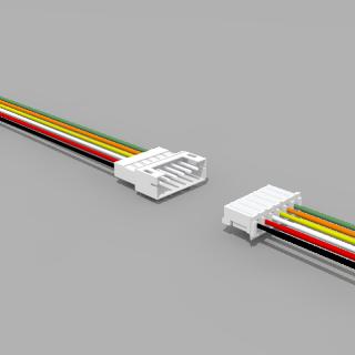 JST PH komp. Buchse/Stecker 6 polig mit je 10 cm Kabel 26 AWG - RM 2,0 mm