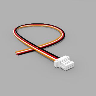 JST Buchse SH 4 polig mit 20 cm Kabel 30 AWG - RM 1,00 mm