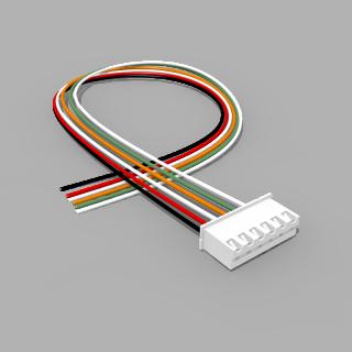 JST Buchse XH 6 polig mit 30 cm Kabel 28 AWG - RM 2,50 mm