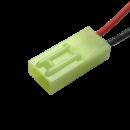 Mini Tamiya Buchse 2 polig mit 10 cm Kabel - RM 4,5 mm