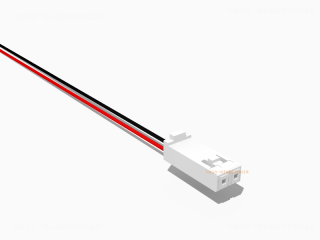 AMP Buchse 2 polig mit 10 cm Kabel RS - RM 2,54 mm