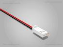 AMP Buchse 2 polig mit 10 cm Kabel SR - RM 2,54 mm