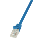 Patchkabel Cat.5e U/UTP, blau, 0,5m
