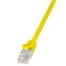 Patchkabel Cat.5e U/UTP, gelb, 0,25m